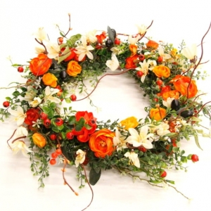 Light orange wreath